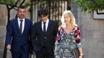 Carles Puigdemont y Neus Munté