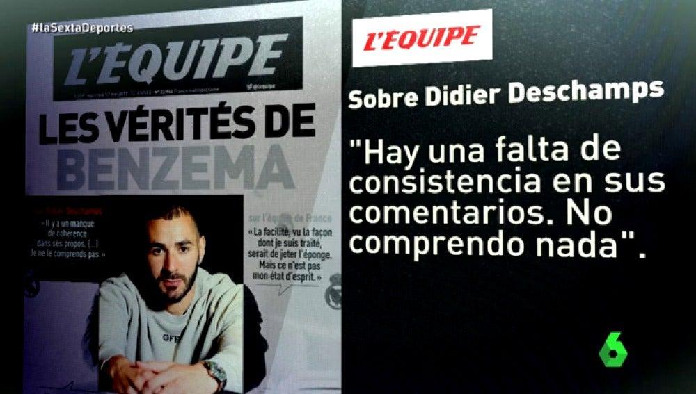 Frame 47.97 de: El cruce de declaraciones entre Benzema y Valbuena