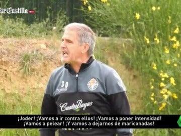"""Frame 17.897142 de: Tremenda bronca de Paco Herrera a sus jugadores: """"¡Nos jugamos la vida y estamos haciendo el gilipollas!"""""""