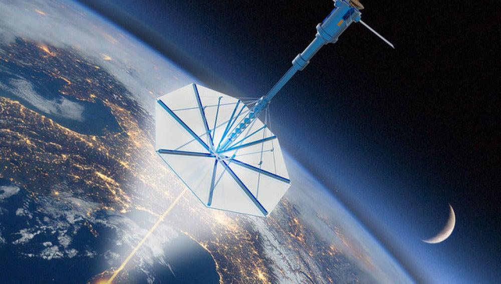 Posible aspecto de una nano sonda saliendo de nuestro planeta