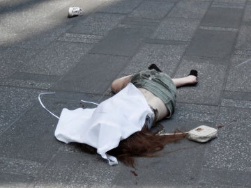 Una víctima del atropello múltiple en Times Square