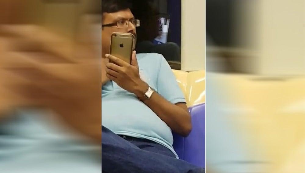 Presunto acosador de una mujer en el metro
