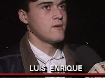Luis Enrique militaba entonces en el Real Madrid