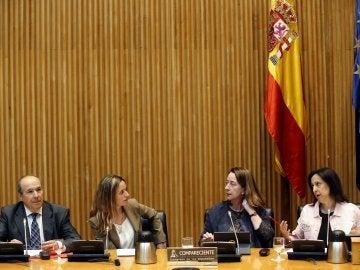 Los representantes fiscales antes de comparecer ante la Comisión de Justicia del Congreso de los Diputados