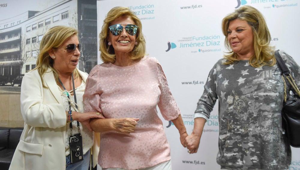 Primeras imágenes de María Teresa Campos tras recibir el alta médica