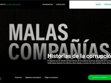 Imagen del site de Malas Compañías