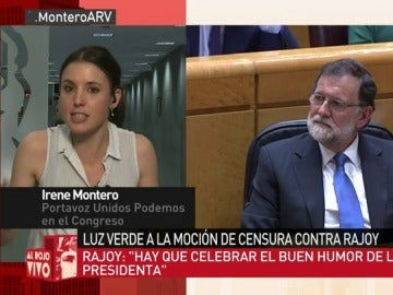 Irene Montero, en Al Rojo Vivo