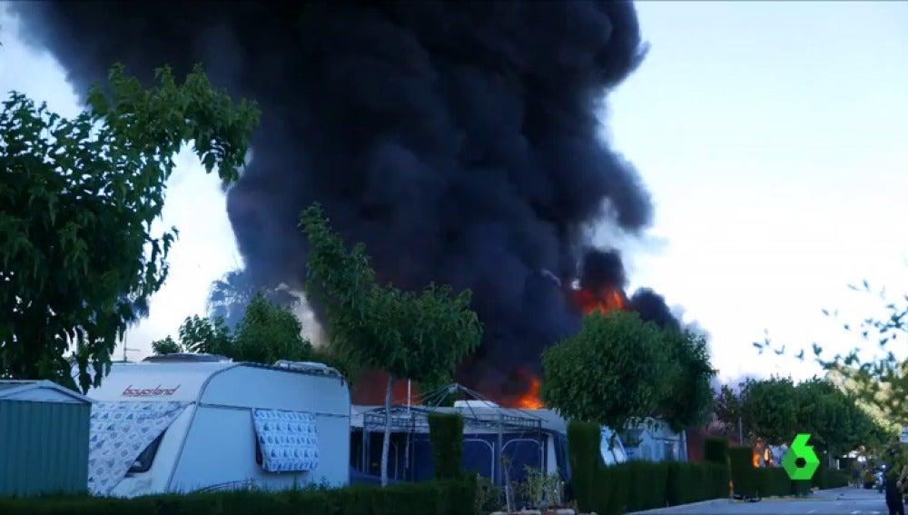 Explosión de una caravana en un camping de Benidorm