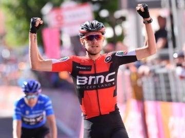 Van Garderen celebra el triunfo en el Giro de Italia