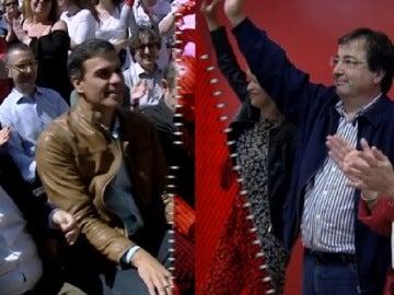 Miquel Iceta, Pedro Sánchez, Guillemro Fernández Vara y Susana Díaz