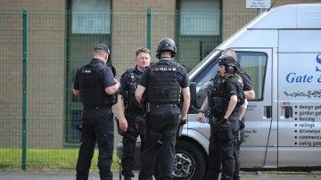 Policía británica en Manchester