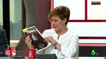 Cristina Pardo con la revista