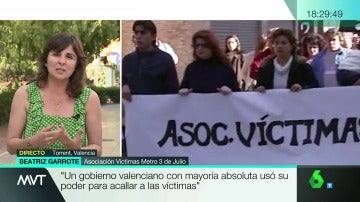 Beatriz Garrote, de la Asociación de Víctimas del Metro del 3 de Julio