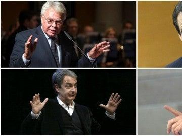 Felipe González, José Bono, José Luis Rodríguez Zapatero y Alfredo Pérez Rubalcaba