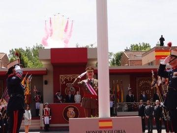 El Rey Felipe VI durante los actos por el Día de las Fuerzas Armadas