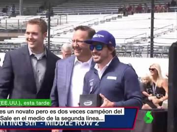 Fernando Alonso, en el óvalo de Indianápolis