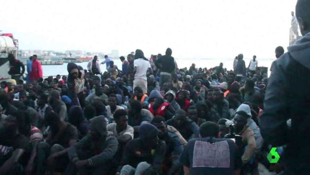 Rescatan a casi 1.500 migrantes frente a las costas de Libia en las últimas horas