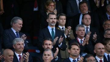 Felipe VI, en el palco del Vicente Calderón