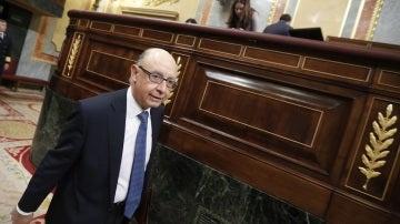El ministro de Hacienda, Cristobal Montoro