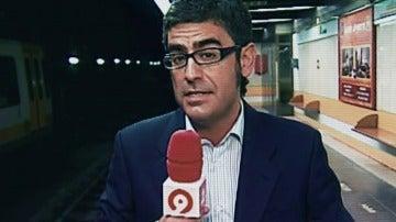 Canal 9 informando sobre el accidente del metro de Valencia