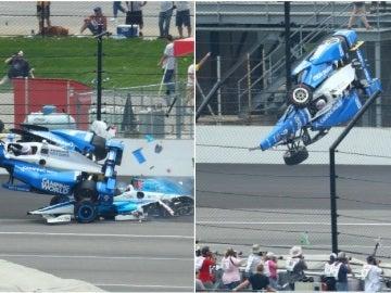 Accidente entre Scott Dixon y Jay Howard