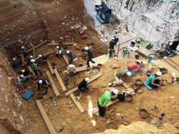 Imagen del yacimiento histórico de Atapuerca