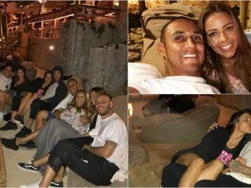 Los jugadores del Madrid salieron a tomarse algo con sus parejas