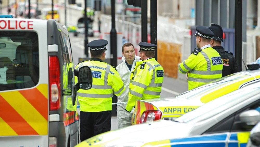 Lugar del ataque en Londres