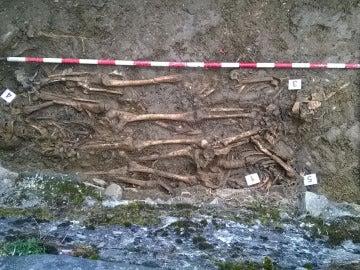 a fosa hallada en Urtasun con restos de personas fugadas de la prisión de Ezkaba