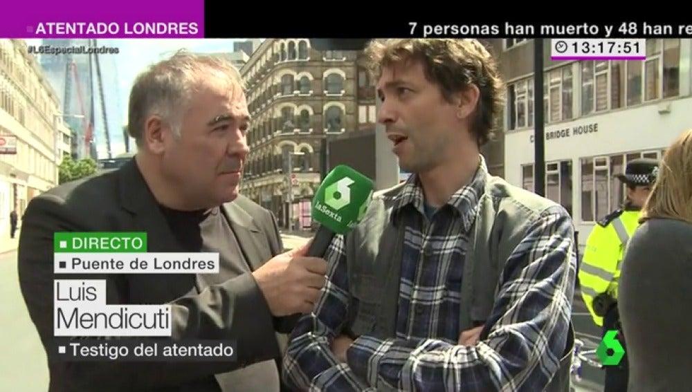 """Frame 49.979023 de: Luis Mendicuti, testigo de los atentados en Londres: """"La sociedad inglesa va a seguir unida"""""""