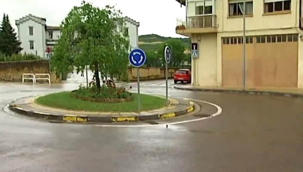 Rotonda en la que ha tenido lugar el accidente