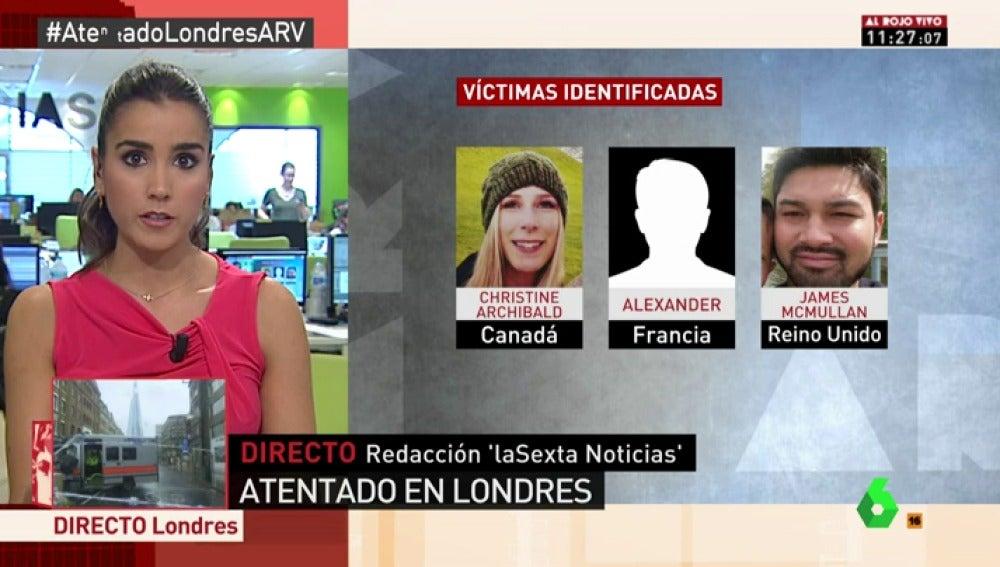 Víctimas del atentado de Londres