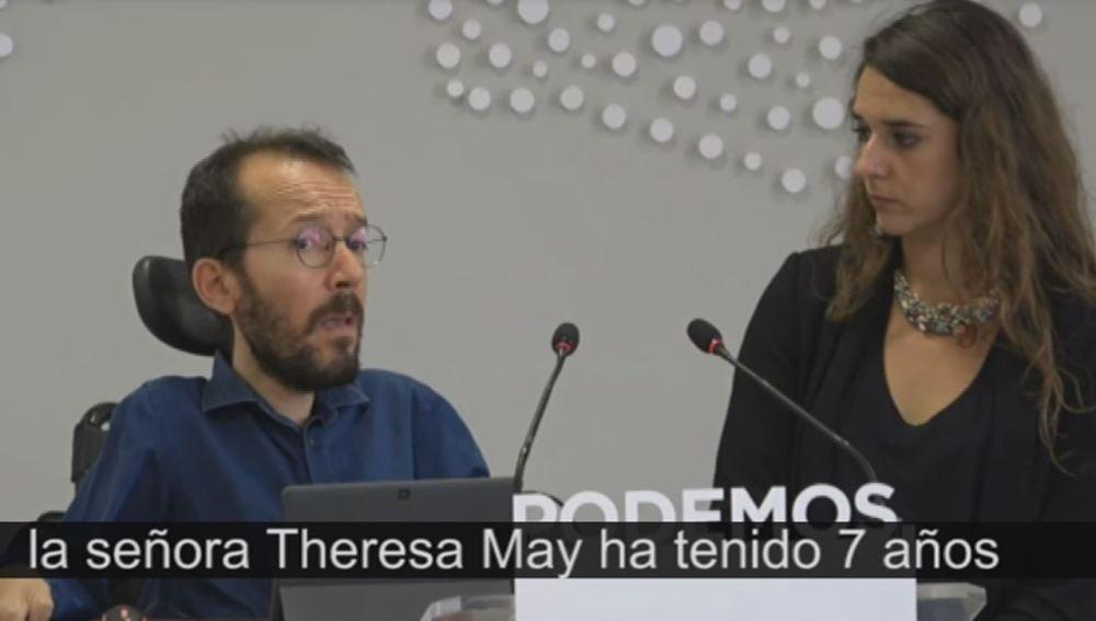 Pablo Echenique y Noelia Vera, Podemos.