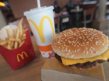 Un menú de McDonald's
