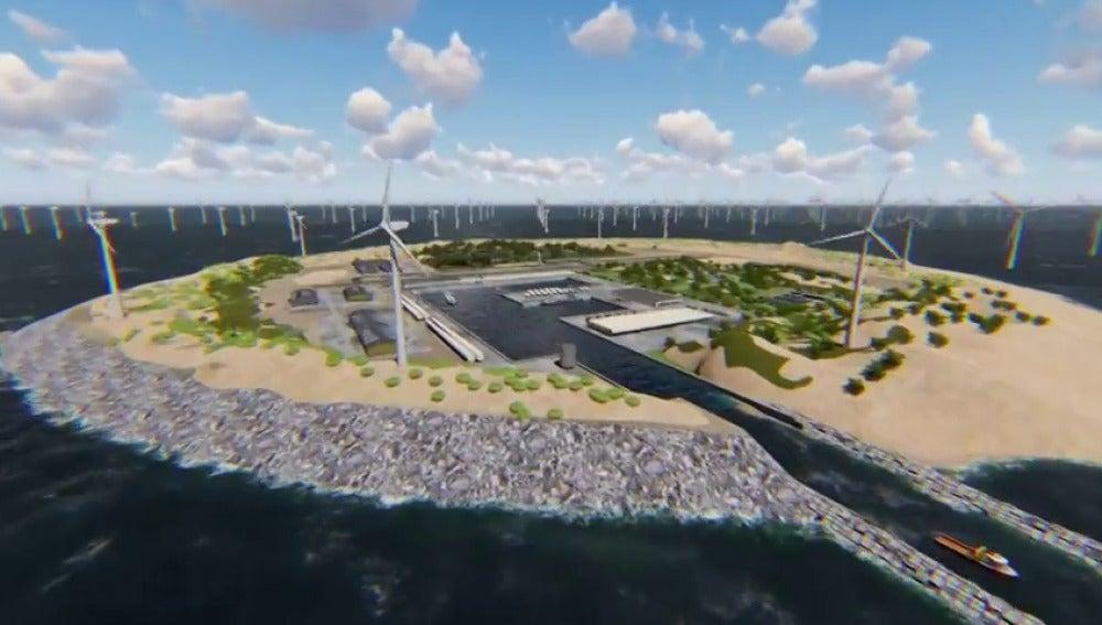 Frame 6.237689 de: 'Dogger Island', la gigantesca isla artificial que suministrará energía renovable a 80 millones de personas en Europa