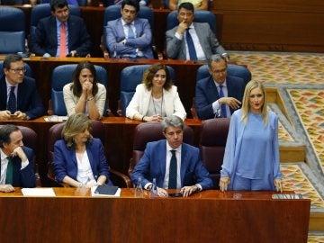 Cristina Cifuentes y el grupo del PP en la Asamblea de la Comunidad de Madrid