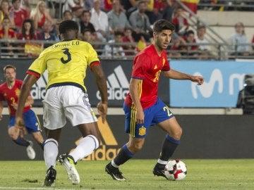 Marco Asensio, en el partido ante Colombia