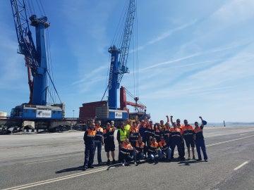 Huelga de estibadores en el Puerto de Santander