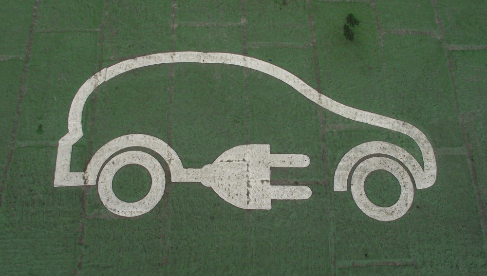 Logotipo de coche eléctrico