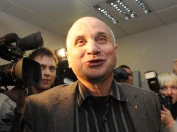 Gedvydas Vainauskas, durante un acto