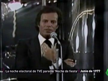 Una noche electoral para la historia: Lolita, Julio Iglesias y otros protagonistas de la 'fiesta de la democracia' de 1977