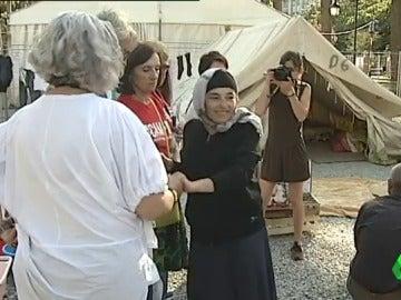 El campo de refugiados en pleno centro de La Coruña