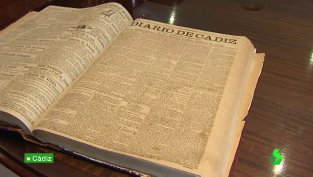 Primer número del 'Diario de Cádiz', publicado en 1867
