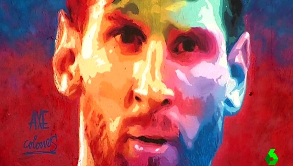Graffiti de Lionel Messi