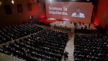 Luis Tudanca, presidente del Congreso Federal del PSOE, se dirigie a los delegados