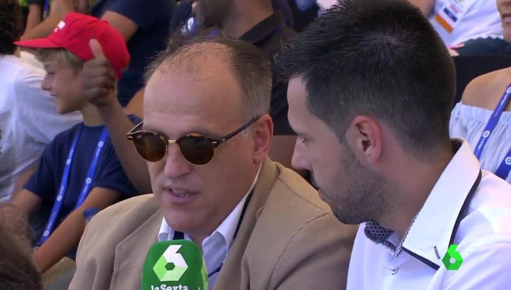 Javier Tebas, en una entrevista con laSexta