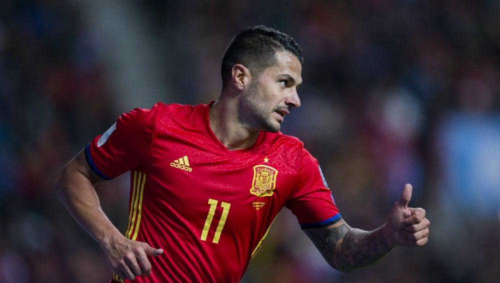 Vitolo, con España