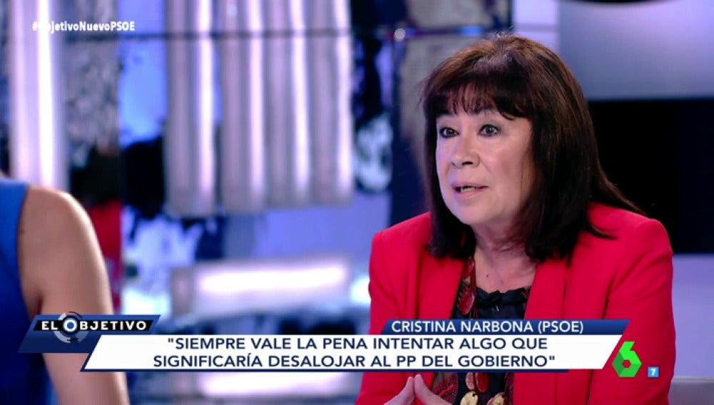 Cristina Narbona en El Objetivo