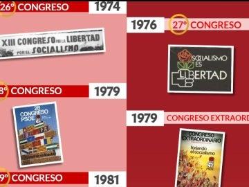 Los lemas de los Congresos del PSOE