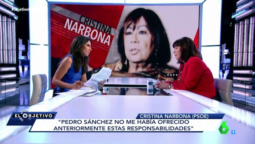 Cristina Narbona con Ana Pastor